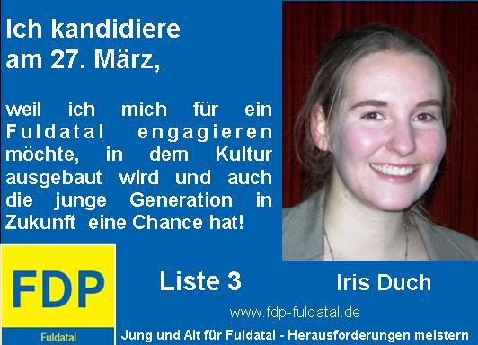 Anzeige Iris Duch in 2. Anzeigenkampagne der FDP in Fuldatal
