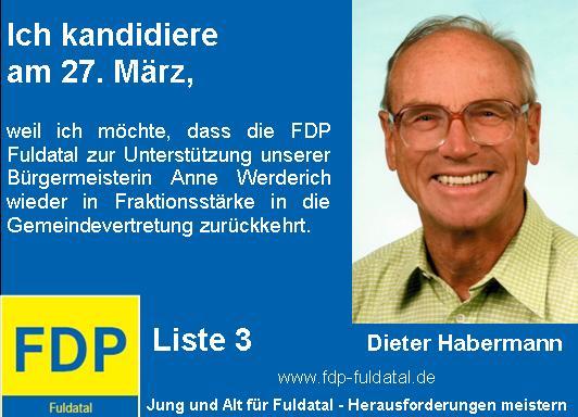 Dieter-Habermann in 2. Anzeigenkampagne der FDP in Fuldatal