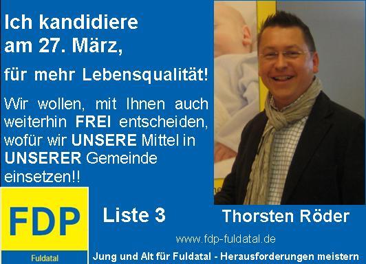 Thorsten-R Der in 2. Anzeigenkampagne der FDP in Fuldatal